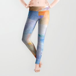 Painted silk with quilting, Open Scroll Leggings