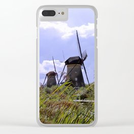 Two sisters at Kinderdijk Clear iPhone Case