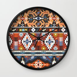 Fancy abstract geometric vector pattern in tribal style.cdr Wall Clock