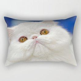 Young white cat Rectangular Pillow