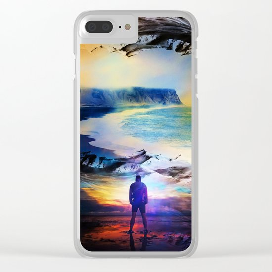Edge Of Time Clear iPhone Case