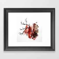 veiny Framed Art Print