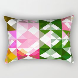 Pink Roses in Anzures 1 Abstract Triangles 1 Rectangular Pillow