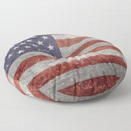 USA flag, retro style Floor Pillow