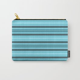 Teal Toucan Stripe Coordinate Carry-All Pouch