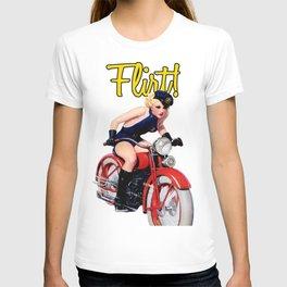 Retro Motorcycle Pinup Girl T-shirt