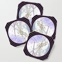 Nature Portals in Periwinkle, Rose & Black by debracortesedesigns