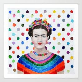 Polka Daub Frida Art Print