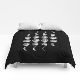 Phases of the Moon print black-white photo new lunar eclipse poster bedroom home wall decor Comforters