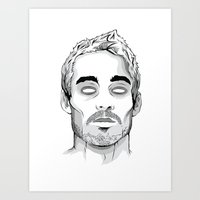 marc johns Art Prints featuring Daniel Johns by cjay