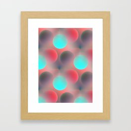 red and turquoise balls -2- Framed Art Print