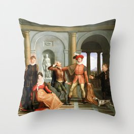 Washington Allston Scene from Shakespeare's The Taming of the Shrew (Katharina and Petruchio) Throw Pillow