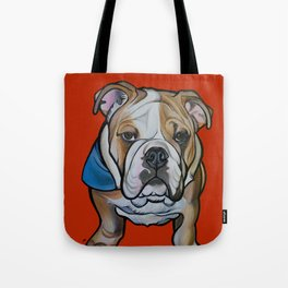 Johnny the English Bulldog Tote Bag