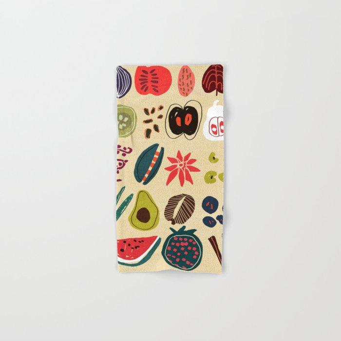 Fruit and Spice Rack Hand & Bath Towel