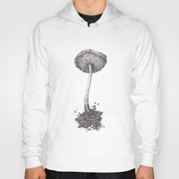 mushroom Hoodies featuring Mushroom by Amber J Cross