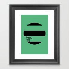 Brazil World Cup 2014 - Poster n°1 Framed Art Print