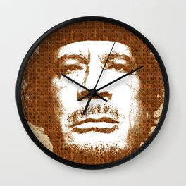 Scrabble Muammar Gaddafi Wall Clock