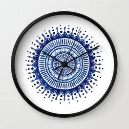 Mandala Watercolor Painting Wall Clock