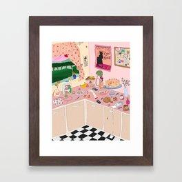 Someboy else's kitchen Framed Art Print