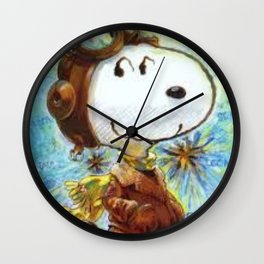 snoopy copilot Wall Clock