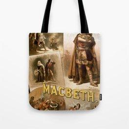 Vintage Macbeth Theatre Poster Tote Bag