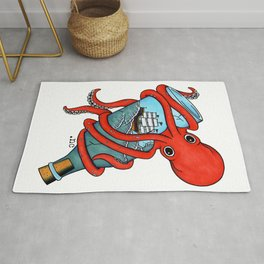 Tattoo Octopus Bottle Rug