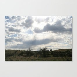 Clouds with Flare #2 Canvas Print