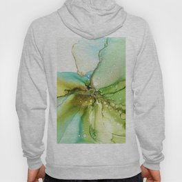 Follow the Bubbles - Green Abstract Ink Painting Hoody