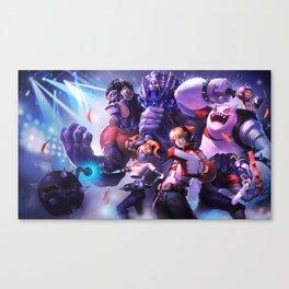 TPA Mundo Ezreal Orianna Shen Nunu Splash Art Wallpaper Official Artwork League of Legends lol Canvas Print