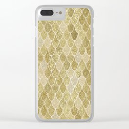 Golden Mermaid Clear iPhone Case