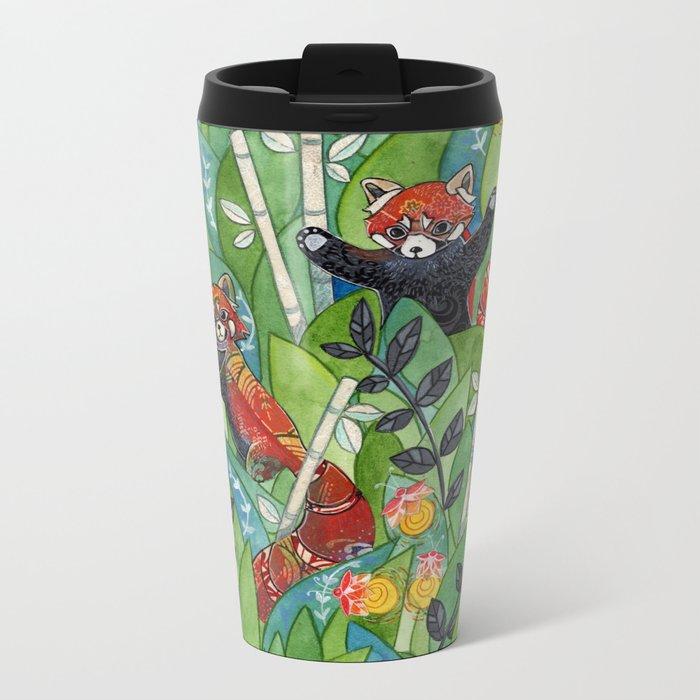 Red Panda Metal Travel Mug