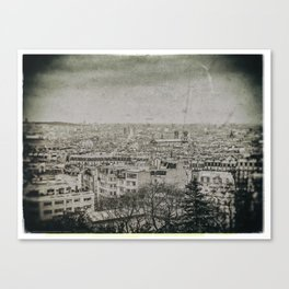 PARIS'S ROOFS (Old plate camera) Canvas Print