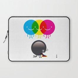 CMY makes K dizzy Laptop Sleeve