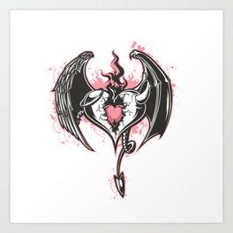 Devil heart Art Print
