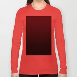 Burgundy Wine Ombre Gradient Long Sleeve T-shirt