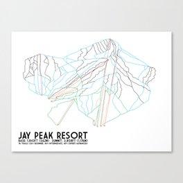 Jay Peak, VT - Minimalist Trail Art Canvas Print