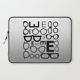 Eye Chart eyeglasses gray glasses Laptop Sleeve