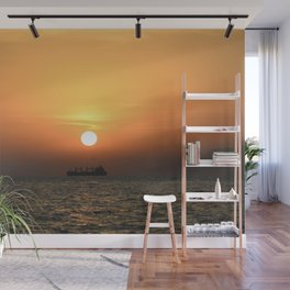 Open Sea Sunset - Greece - Landscape and Rural Art Photography Wall Mural