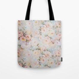 Vintage romantic blush pink ivory elegant rose floral Tote Bag