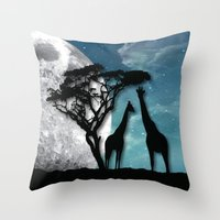 african Throw Pillows featuring African Nights by Bakmann Art