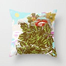 LEAF MAKEUP Throw Pillow