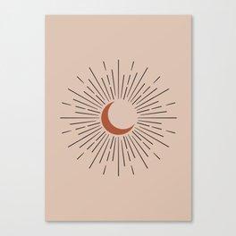 Sun, Sunburst Art Canvas Print