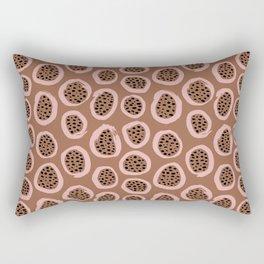 Raw brush minimal fruit garden abstract circle pattern Rectangular Pillow