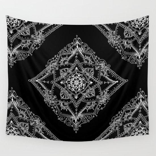 Mandala Doodle Pattern in Black & White by laurelmae