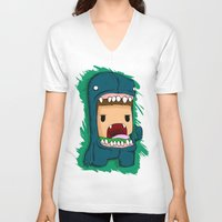 monster V-neck T-shirts featuring monster by jeff'walker