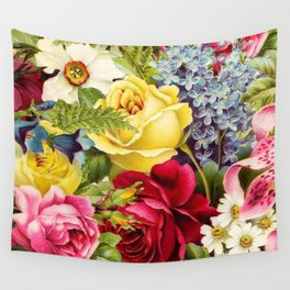 flowers profusion Wall Tapestry