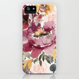 Large floral autumn iPhone Case
