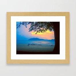 Strolling Surfer Framed Art Print