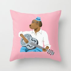 Hound Dog Slim Throw Pillow