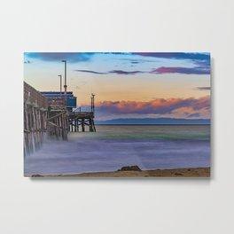 Long Exposure Dawn at Newport Pier Metal Print